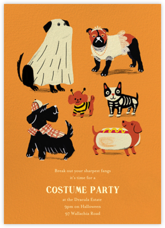 Howlin' Halloween - Orange - Paperless Post - Halloween invitations