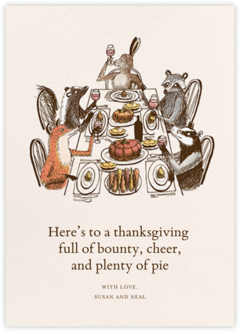 Forest Feast - Paperless Post - Thanksgiving Cards