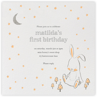 Starry Bunny - Hello!Lucky - First Birthday Invitations