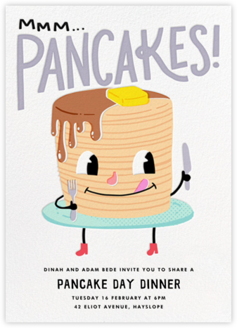 Hot Cakes - Hello!Lucky - Brunch invitations