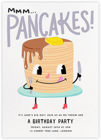 Hot Cakes - Hello!Lucky - Kids' birthday invitations