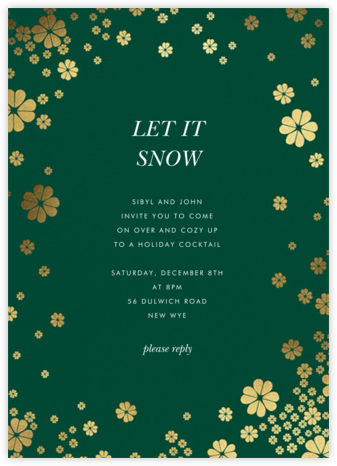 Clover and Over - Forest Green - kate spade new york - Holiday invitations