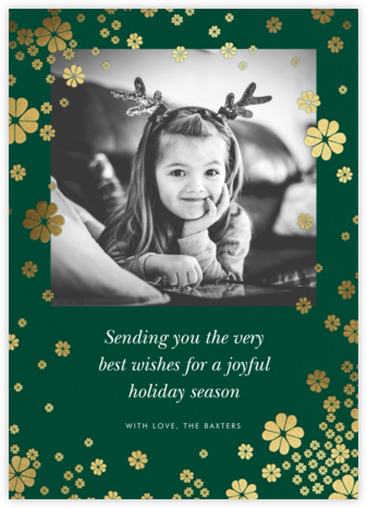 Clover and Over Photo - Forest Green - kate spade new york - Holiday cards