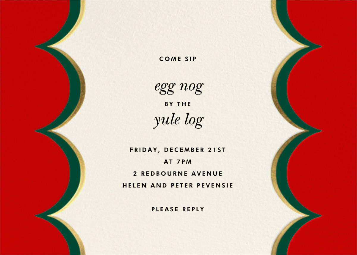 Intarsia Scallop - Red - kate spade new york - Kate Spade invitations, save the dates, and cards