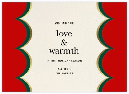 Intarsia Scallop - Red - kate spade new york - Holiday Cards