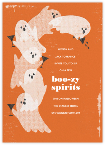 Ghosts Gone Wild - Paperless Post - Halloween invitations
