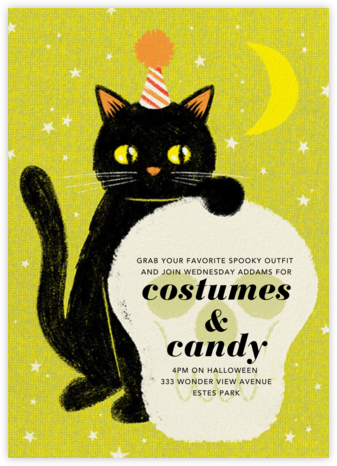 Black Cat - Paperless Post - Halloween invitations