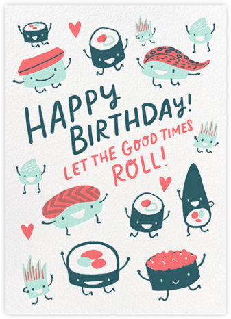 Roll Out (Greeting) - Hello!Lucky - Hello!Lucky Cards
