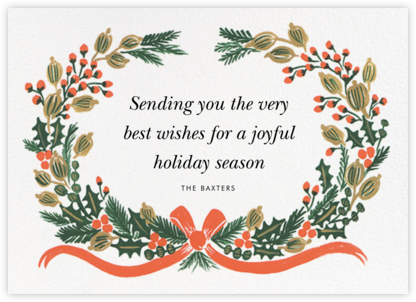 Holiday Greens - Rifle Paper Co. - Holiday Cards