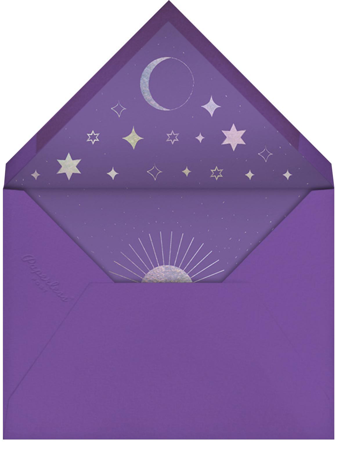 Unicorn Spell - Amethyst - Paperless Post - Halloween - envelope back