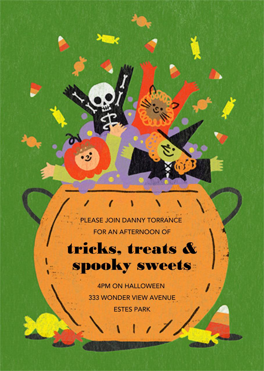 Candy Cauldron - Paperless Post - Halloween invitations
