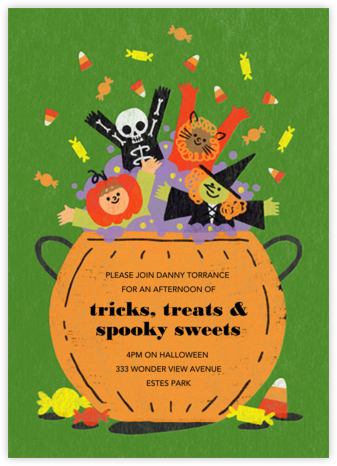 Candy Cauldron - Paperless Post - Halloween invitations