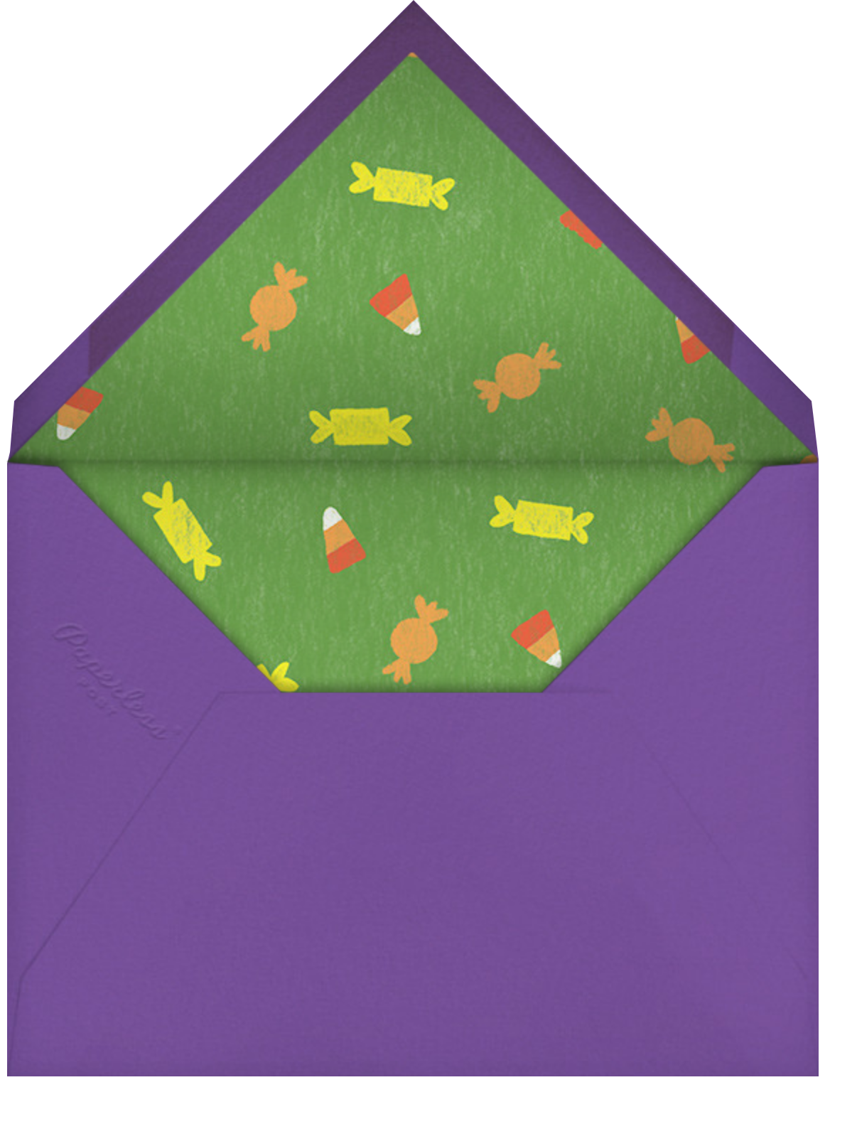 Candy Cauldron - Paperless Post - Halloween - envelope back