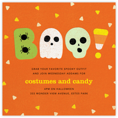 Candy Dandy - Paperless Post - Halloween invitations
