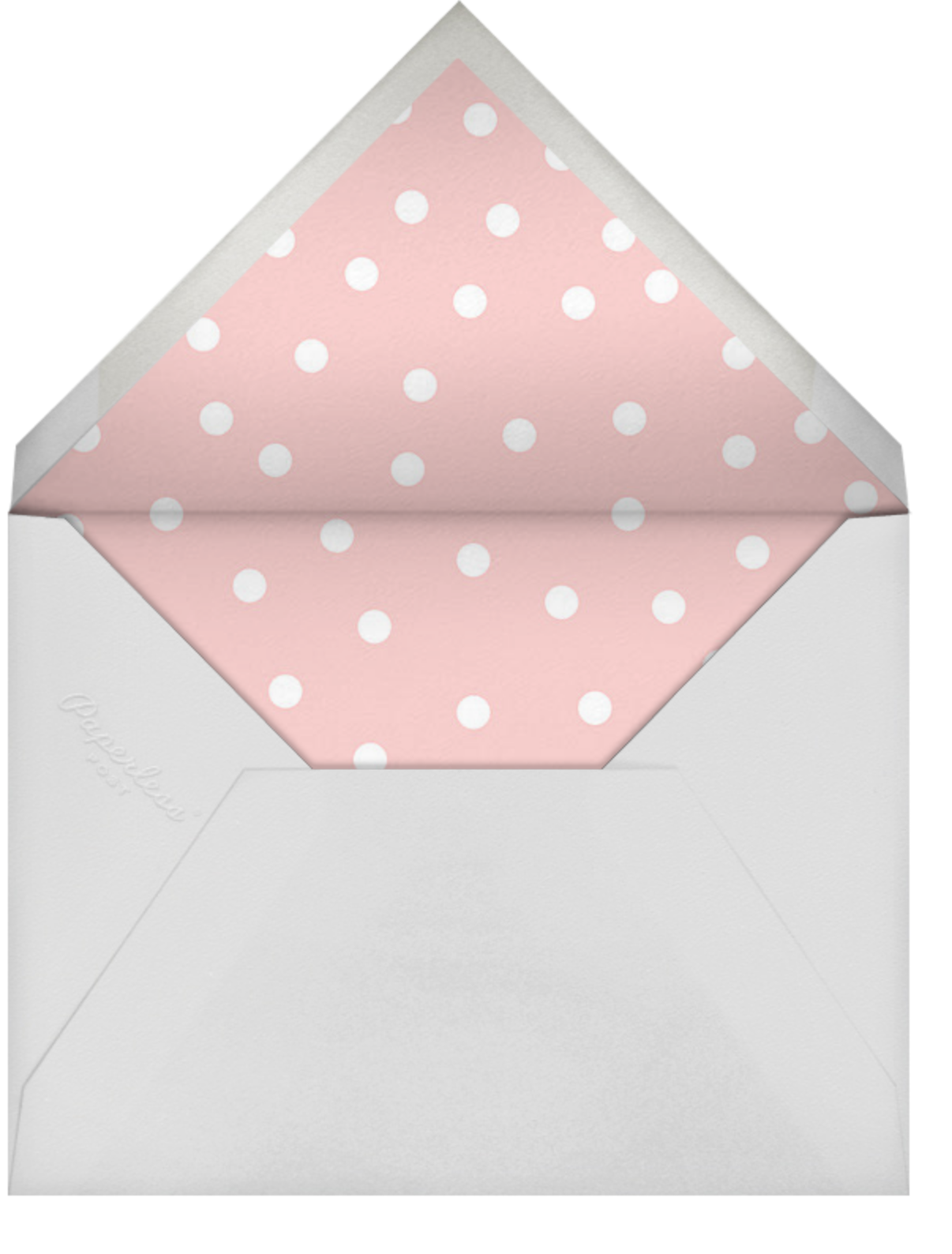 Pink Dots - Linda and Harriett - Baby shower - envelope back