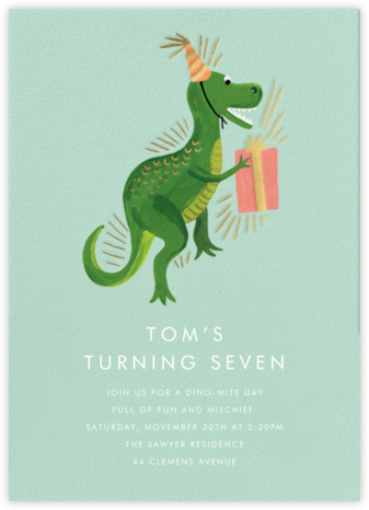 Dino-Mite Birthday - Rifle Paper Co. - Online Kids' Birthday Invitations