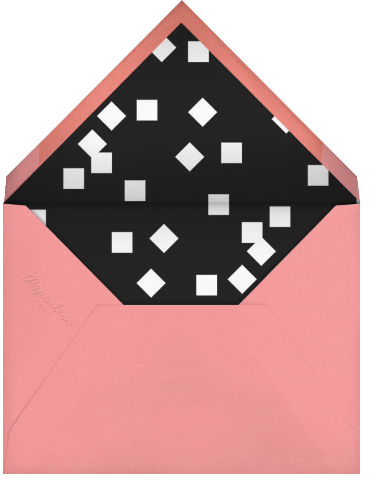 White (Square) - Paperless Post - Bachelorette party - envelope back