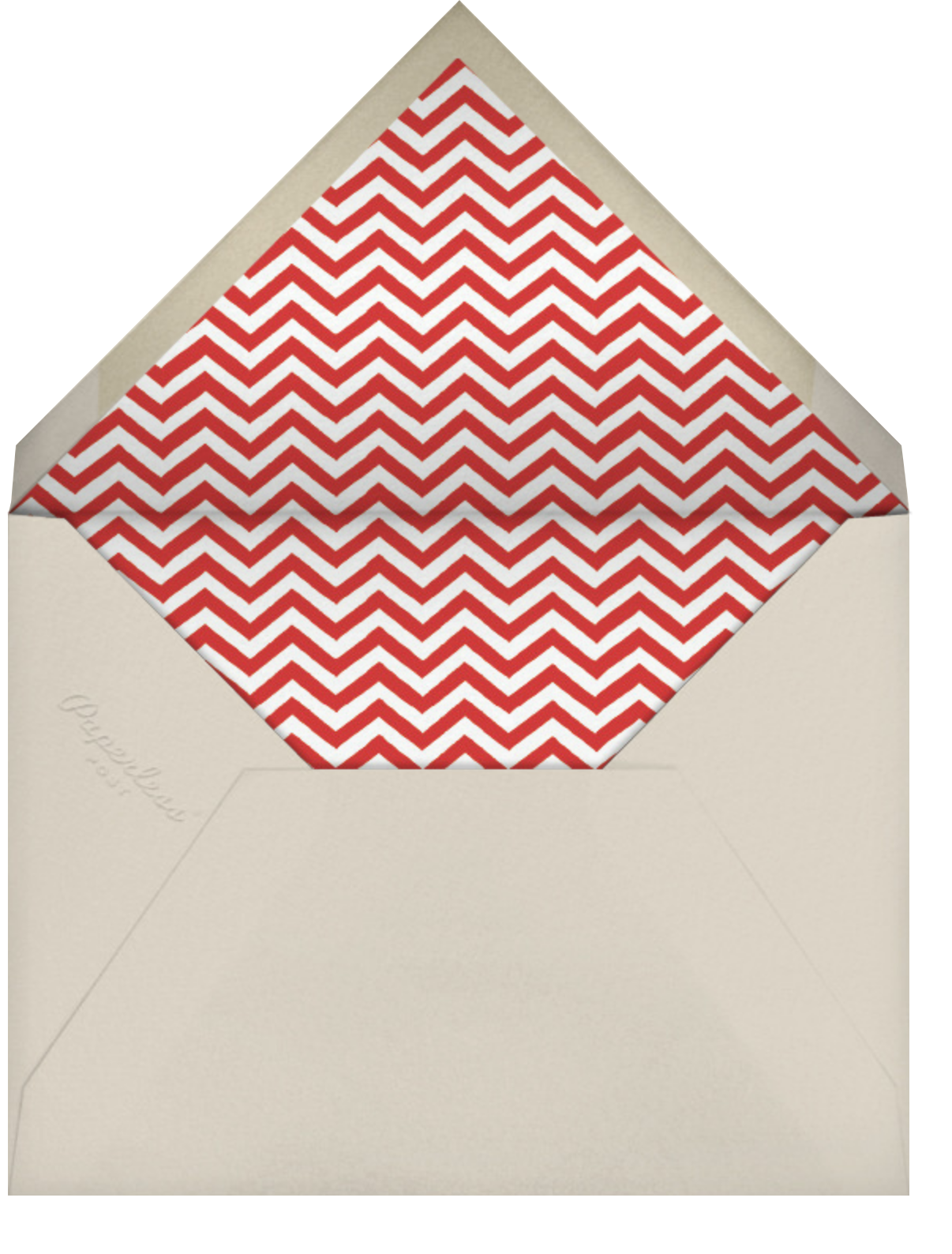Let's Celebrate - Red - Linda and Harriett - Cocktail party - envelope back