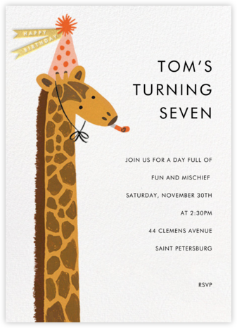 Birthday Giraffe - Rifle Paper Co. - Online Kids' Birthday Invitations