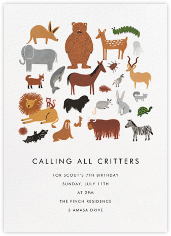 Animal Birthday - Rifle Paper Co. - Kids' birthday invitations