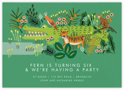 Alligator Birthday - Rifle Paper Co. - Online Kids' Birthday Invitations
