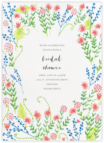Penciled Garden - Mr. Boddington's Studio - Bridal shower invitations