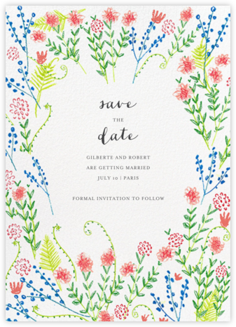 Penciled Garden - Mr. Boddington's Studio - Save the dates