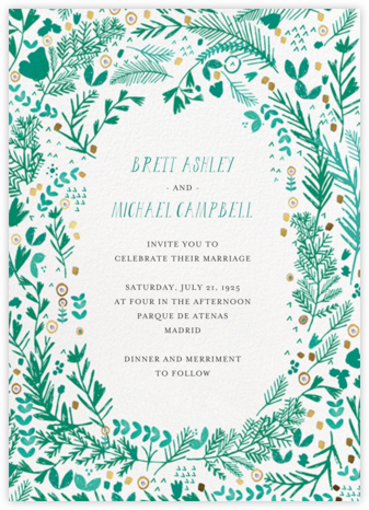 Pine and Dandy (Invitation) - Mr. Boddington's Studio - Wedding Invitations