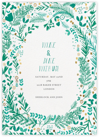 Pine and Dandy - White - Mr. Boddington's Studio - Bridal shower invitations
