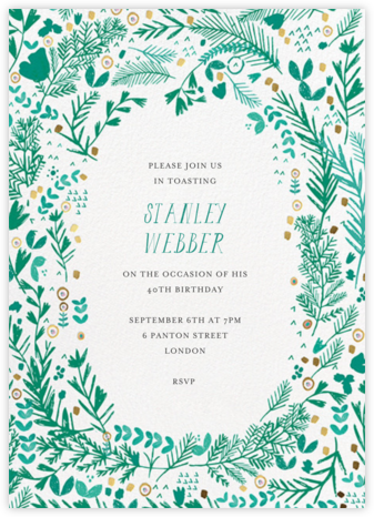 Pine and Dandy - White - Mr. Boddington's Studio - Adult Birthday Invitations