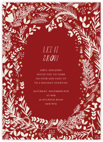 Pine and Dandy - Crimson - Mr. Boddington's Studio - Holiday invitations