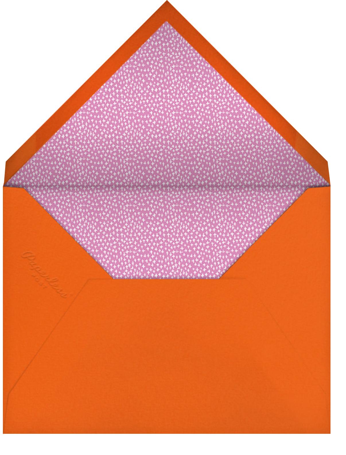 Up in the Air - Mauve - Mr. Boddington's Studio - Baby shower - envelope back