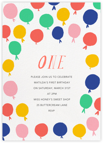 Up in the Air - Multi - Mr. Boddington's Studio - Birthday invitations
