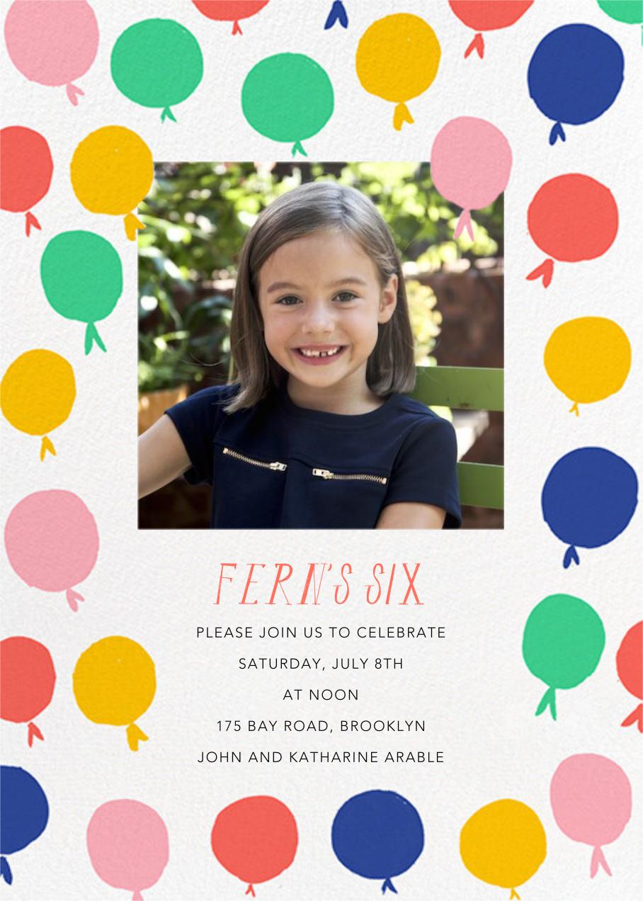 Up in the Air Photo - Mr. Boddington's Studio - Kids' birthday invitations
