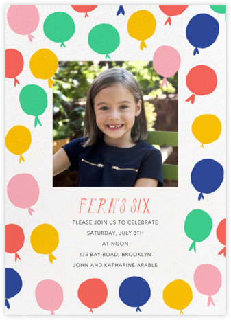Up in the Air Photo - Mr. Boddington's Studio - Kids' birthday invitations