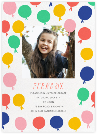 Up in the Air Photo - Mr. Boddington's Studio - Birthday invitations