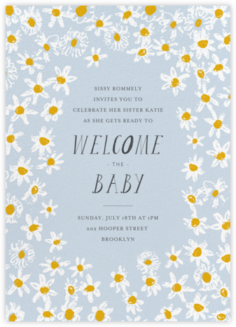 Among the Daisies - Tundra - Mr. Boddington's Studio - Baby shower invitations