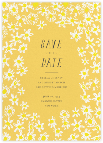 Among the Daisies - Citrus - Mr. Boddington's Studio - Save the dates