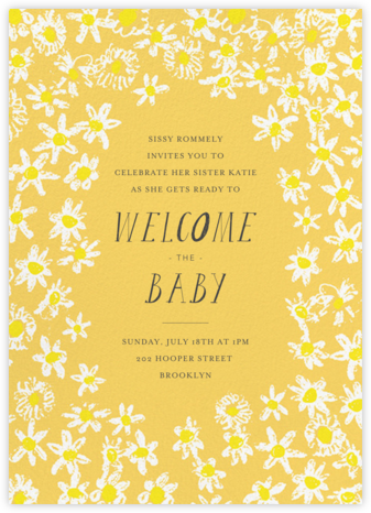 Among the Daisies - Citrus - Mr. Boddington's Studio - Baby Shower Invitations