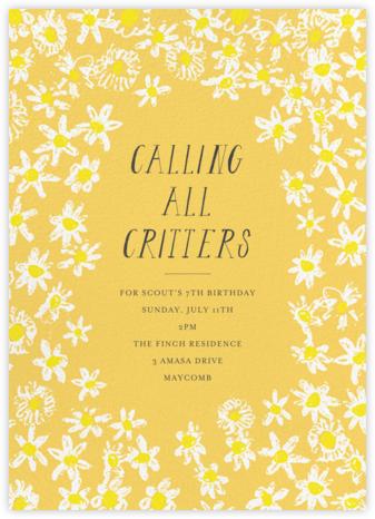 Among the Daisies - Citrus - Mr. Boddington's Studio - Online Kids' Birthday Invitations