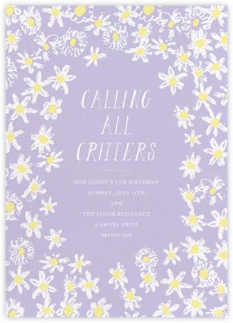 Among the Daisies - Lavender - Mr. Boddington's Studio - Online Kids' Birthday Invitations