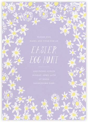 Among the Daisies - Lavender - Mr. Boddington's Studio - Easter invitations