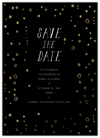 Fizzy - Black - Mr. Boddington's Studio - Save the dates