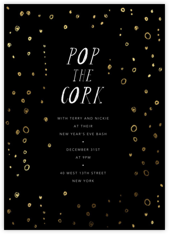 Fizzy - Black - Mr. Boddington's Studio - New Year's Eve Invitations