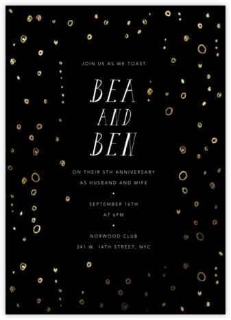 Fizzy - Black - Mr. Boddington's Studio - Celebration invitations