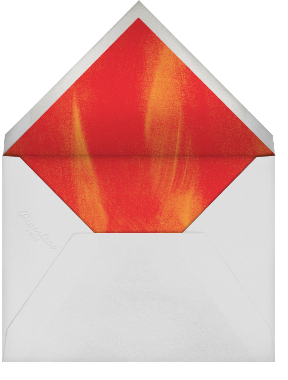 Falling Leaves - Paperless Post - Autumn entertaining - envelope back