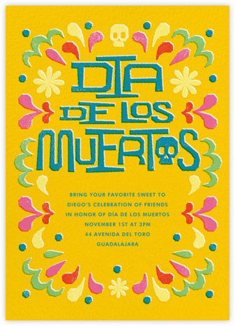 Amarillo - Paperless Post - Día de los Muertos invitations