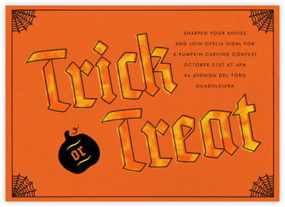Cobwebs - Paperless Post - Halloween invitations