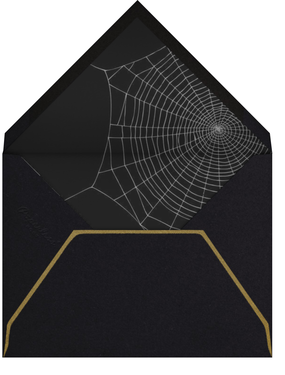Cobwebs - Paperless Post - Halloween - envelope back