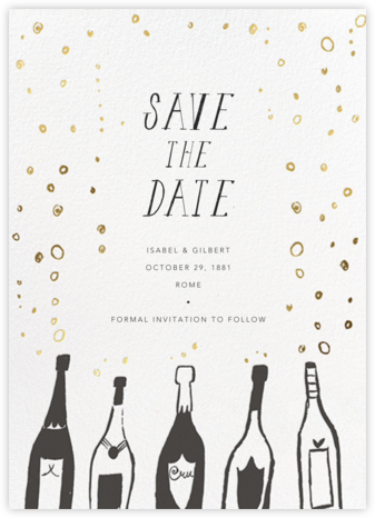 Uncorked - Mr. Boddington's Studio - Save the date cards and templates